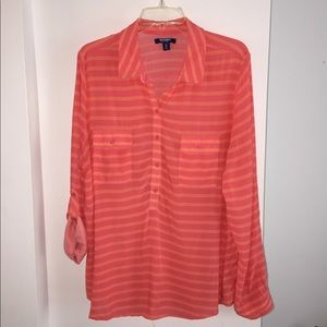 Old Navy Stripe Blouse, XL
